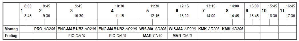 Stundenplan Azubine Luna Header|Stundenplan Azubine Luna