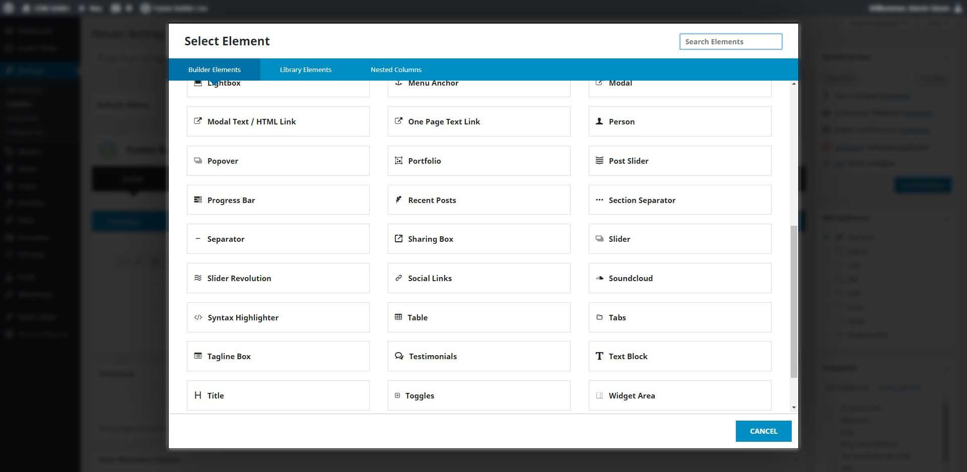Wordpress Beitrag Element