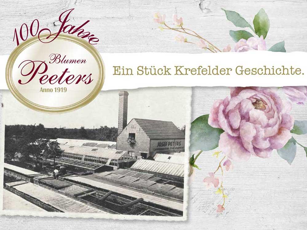 Blumen Peeters Chronik 100-jahre - Beitragsbild
