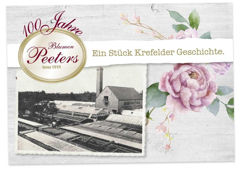 Blumen Peeters Chronik 100 Jahre