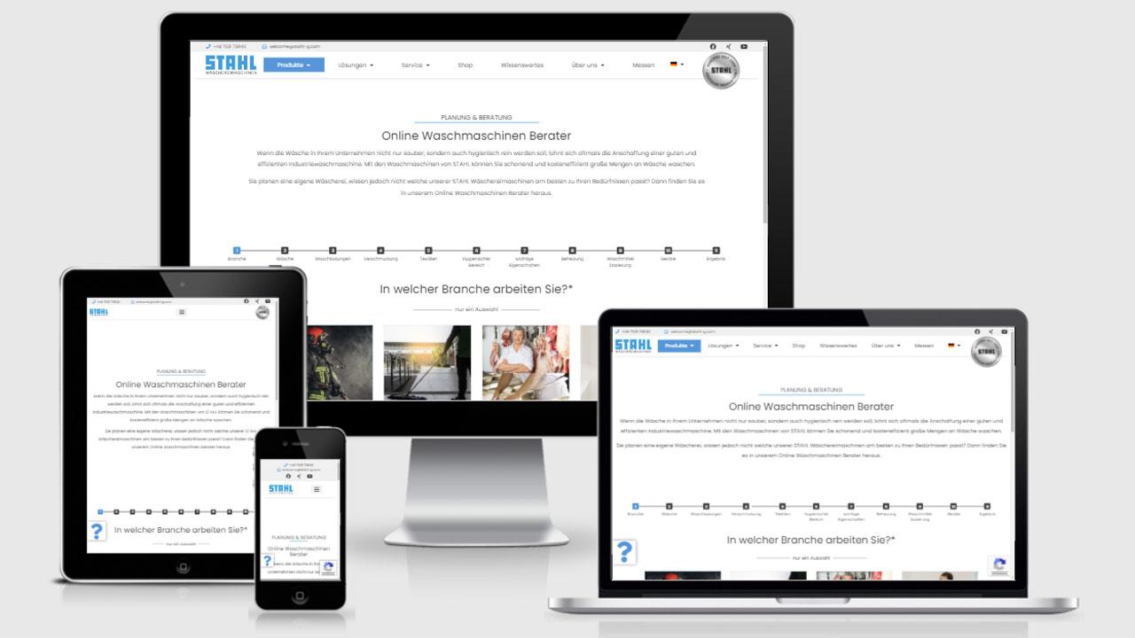 STAHL - Programmierung eines Waschmaschinen Online Beraters zur Leadgenerierung