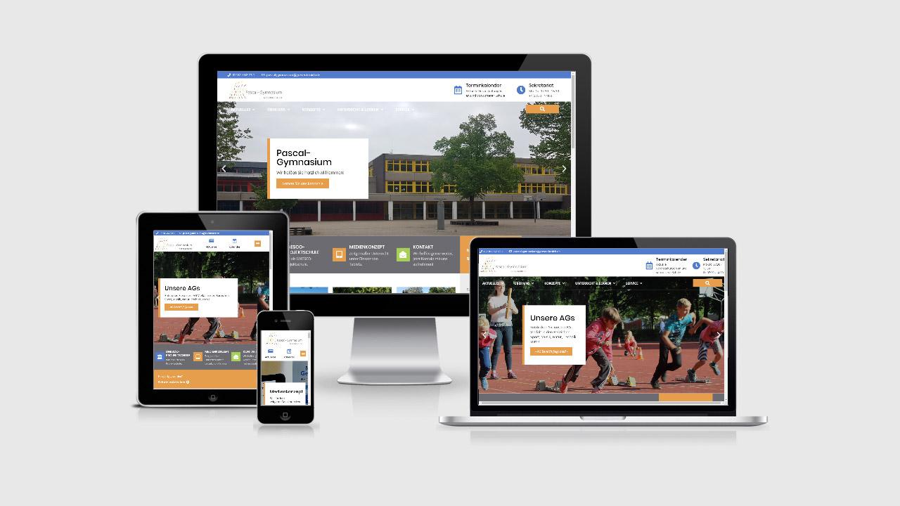 Arbeitsbeispiel Website Pascal-Gymnasium