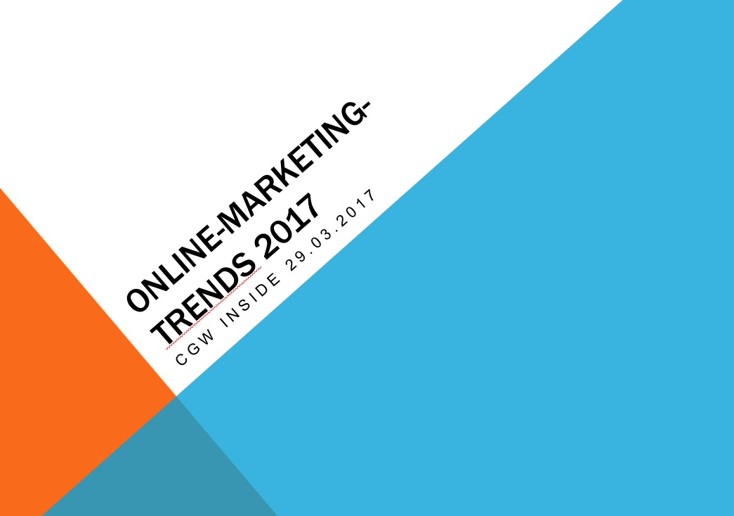 Online Marketing Trends 2017