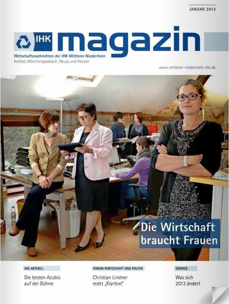 Cover des IHK Magazins Januar 2013