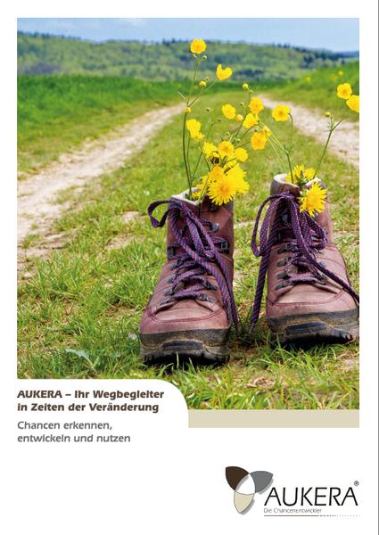 Cover der Imagebroschüre von Aukera