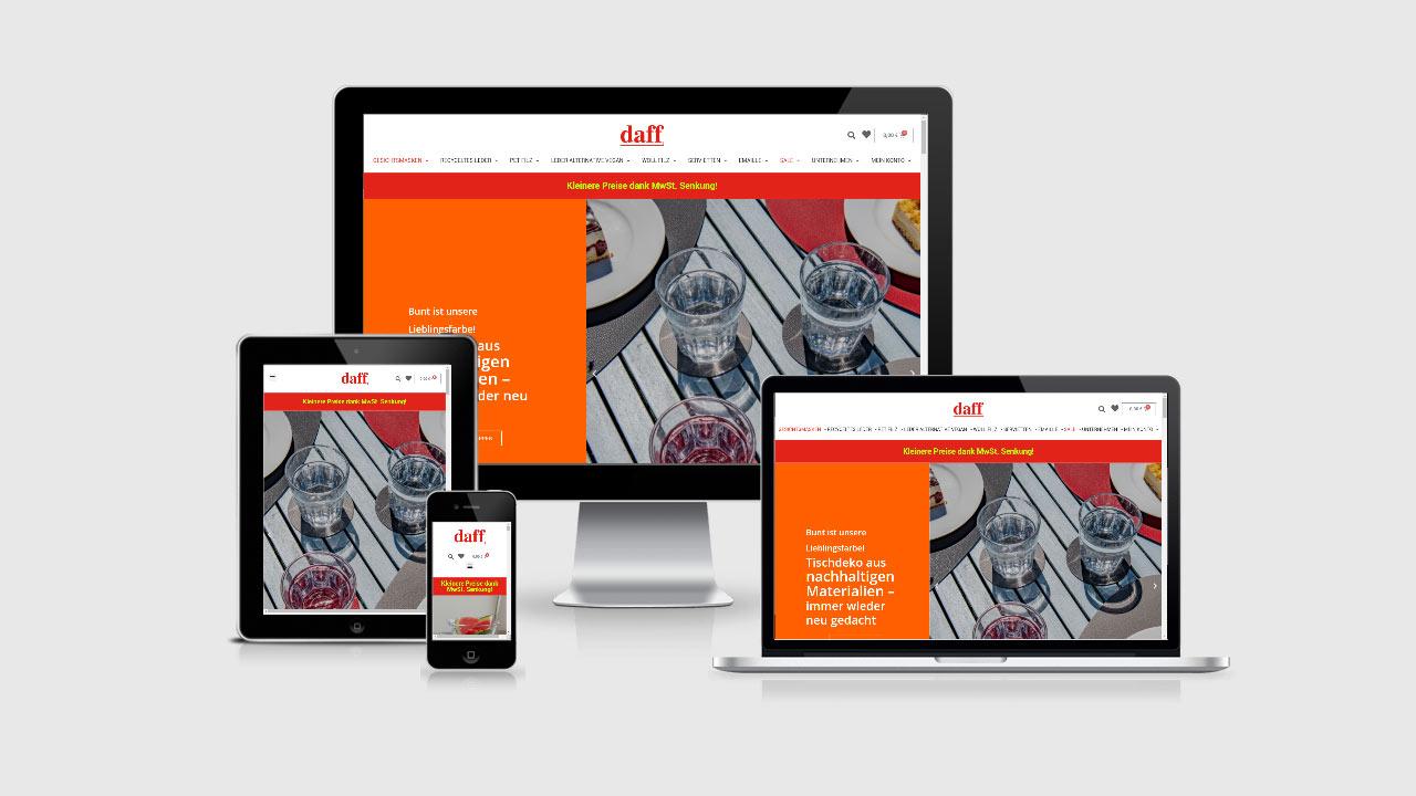 daff | Storytelling im Online-Shop