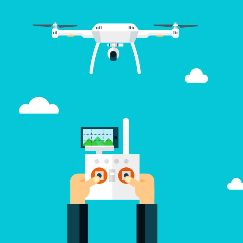 Drohne mit Fernbedienung