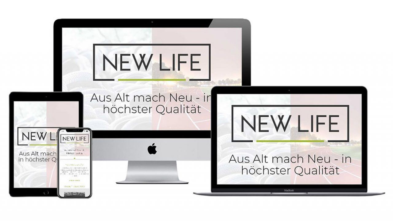 Webseite NEW LIFE