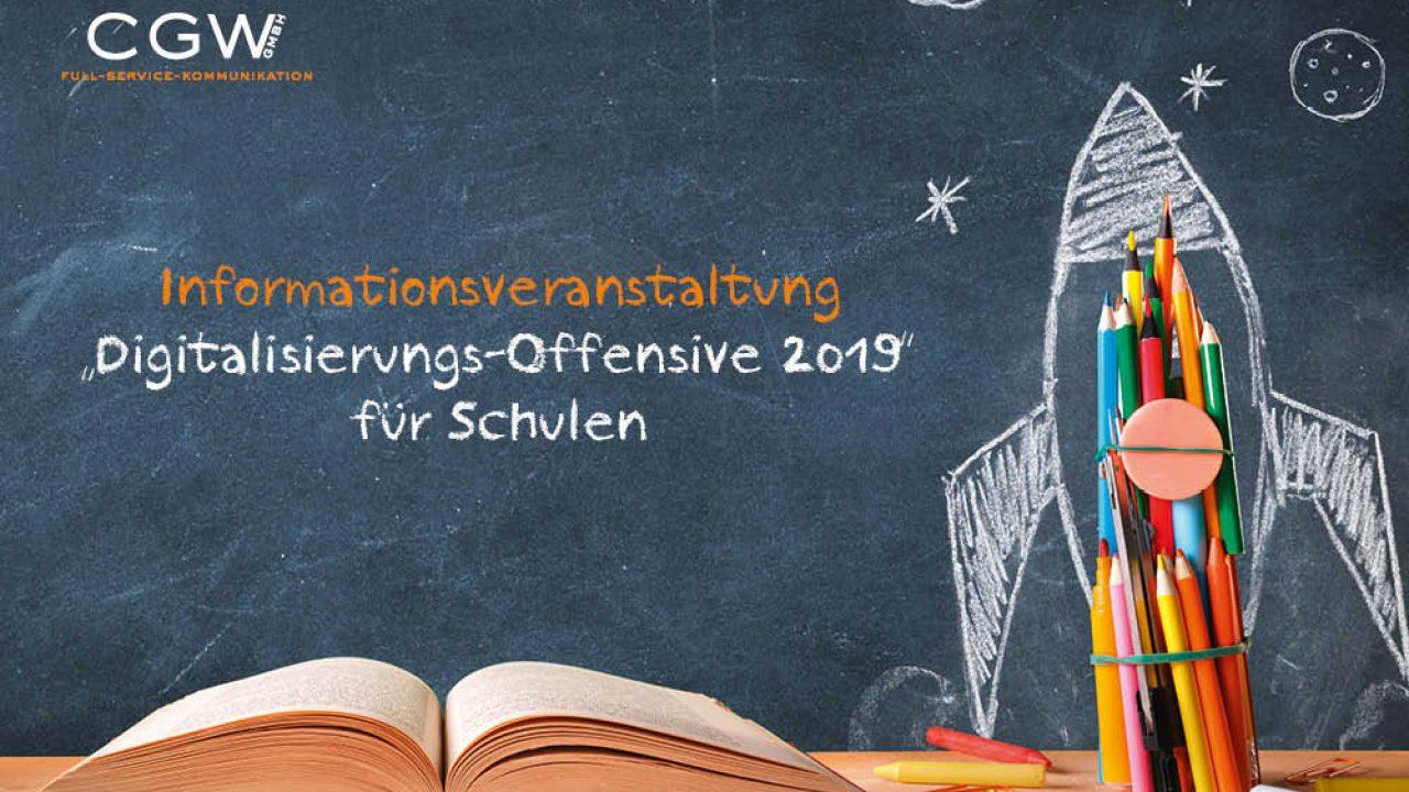 """Kostenlose Informationsveranstaltung """"Digitalisierungs-Offensive 2019"""" für Schulen"""