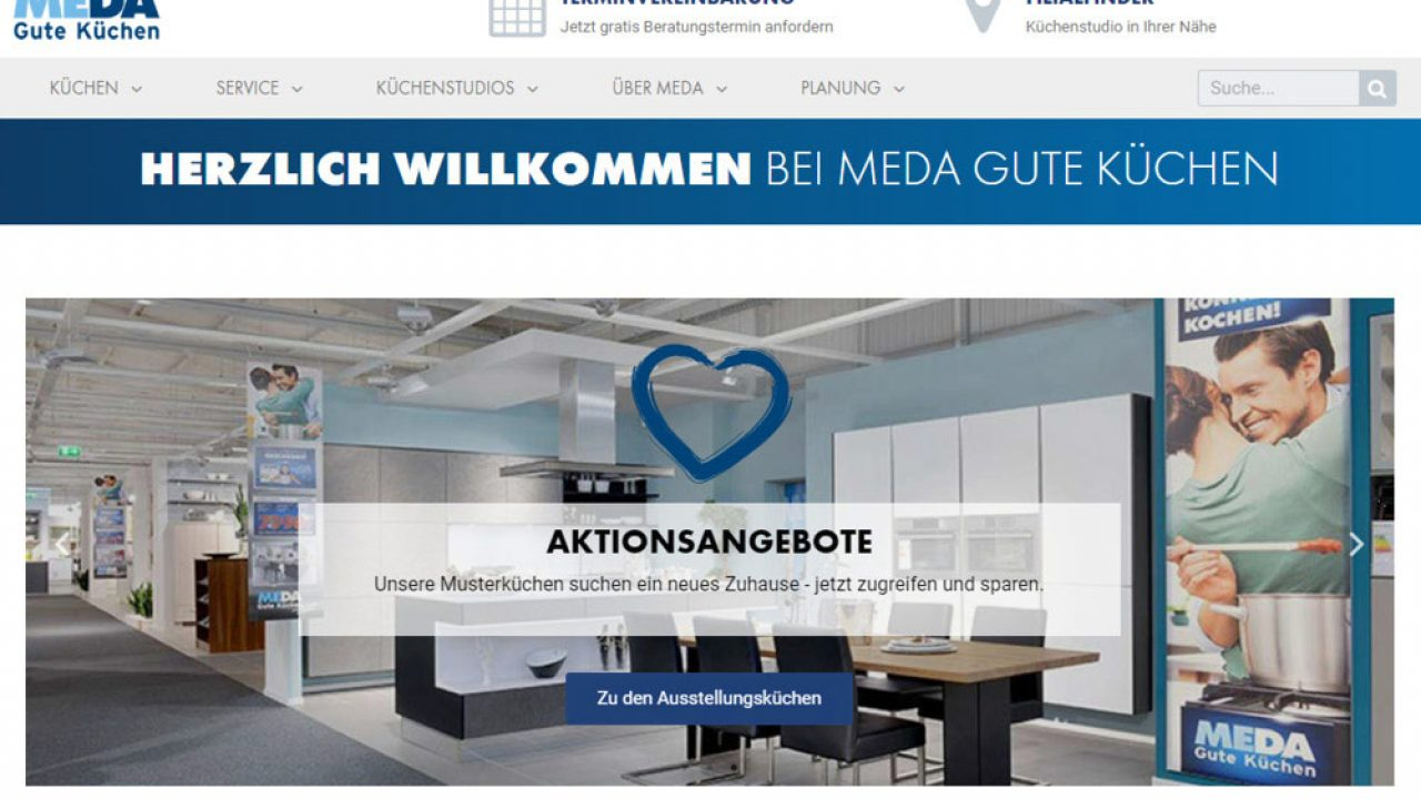 CGW GmbH News MEDA Küchen Webdesign