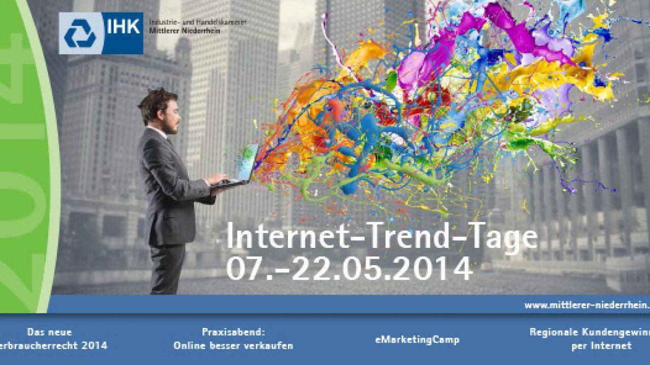 Flyer für die IHK Internet-Trend-Tage 2014