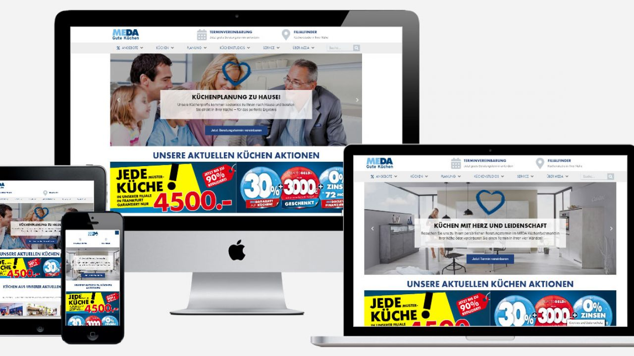 MEDA Gute Küchen Internetseite