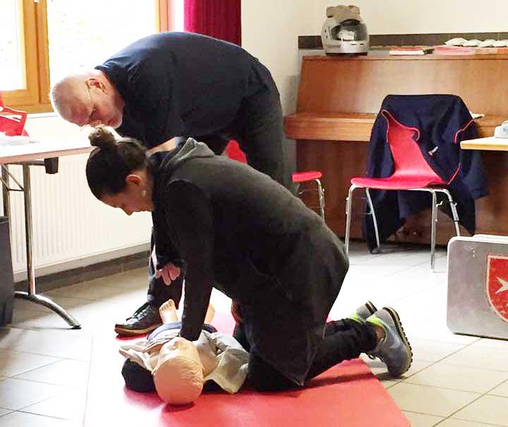 Erste Hilfe Kurs für Mitarbeiter in Kooperation mit den Maltesern Krefeld