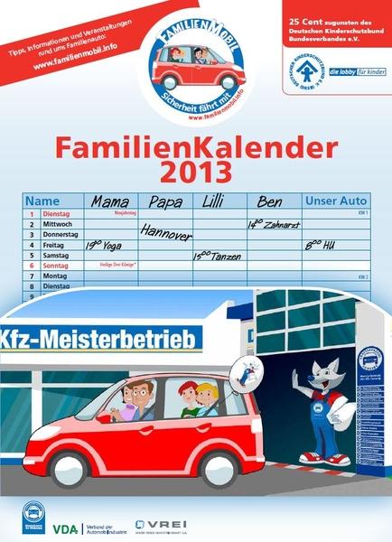 Cover des Familienkalenders 2013