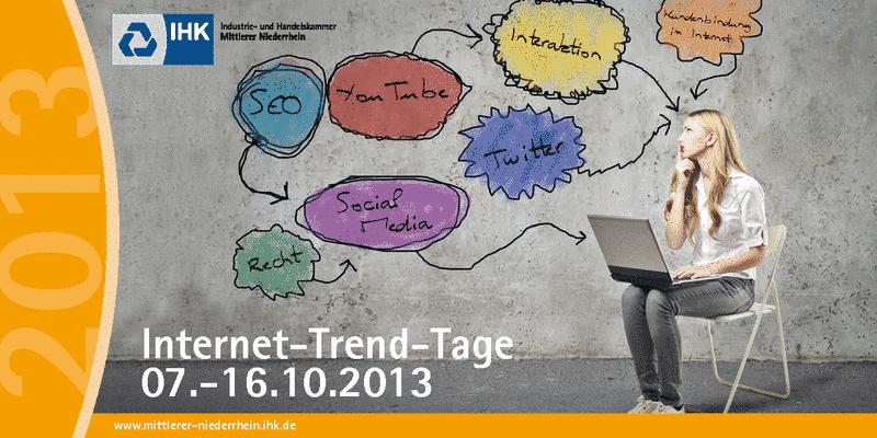 Flyer für die IHK Internet-Trend-Tage 2013