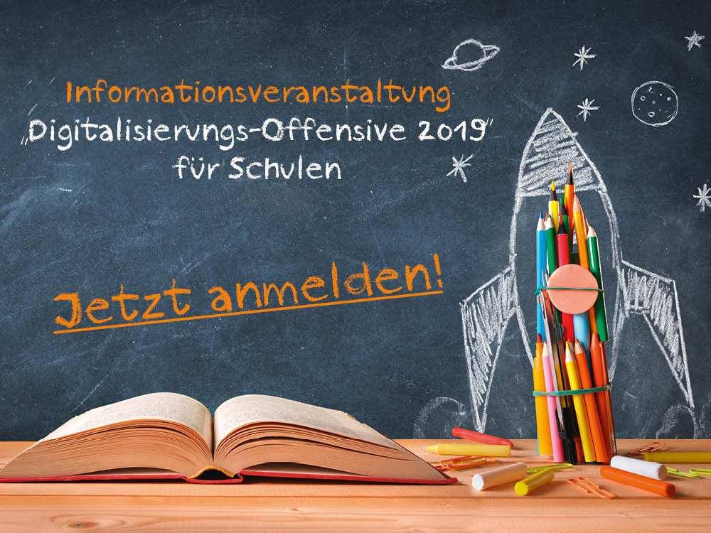 Informationsveranstaltung Digialisierungs Offensive Schulen 2019