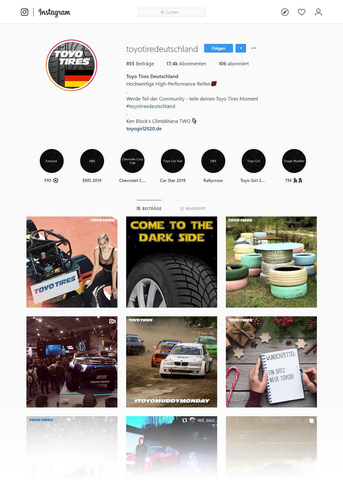 Instagram Toyo Tires Germany