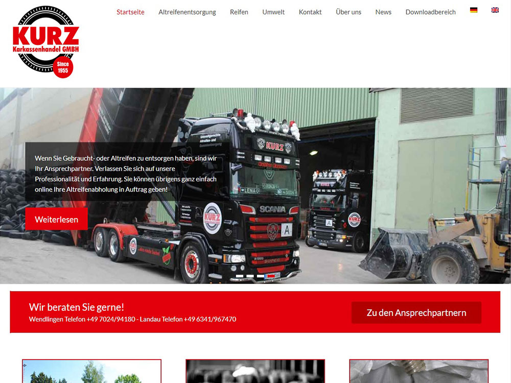 KURZ Karkassenhandel - Neue Website