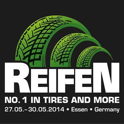 Logo der Messe Reifen 2014 in Essen