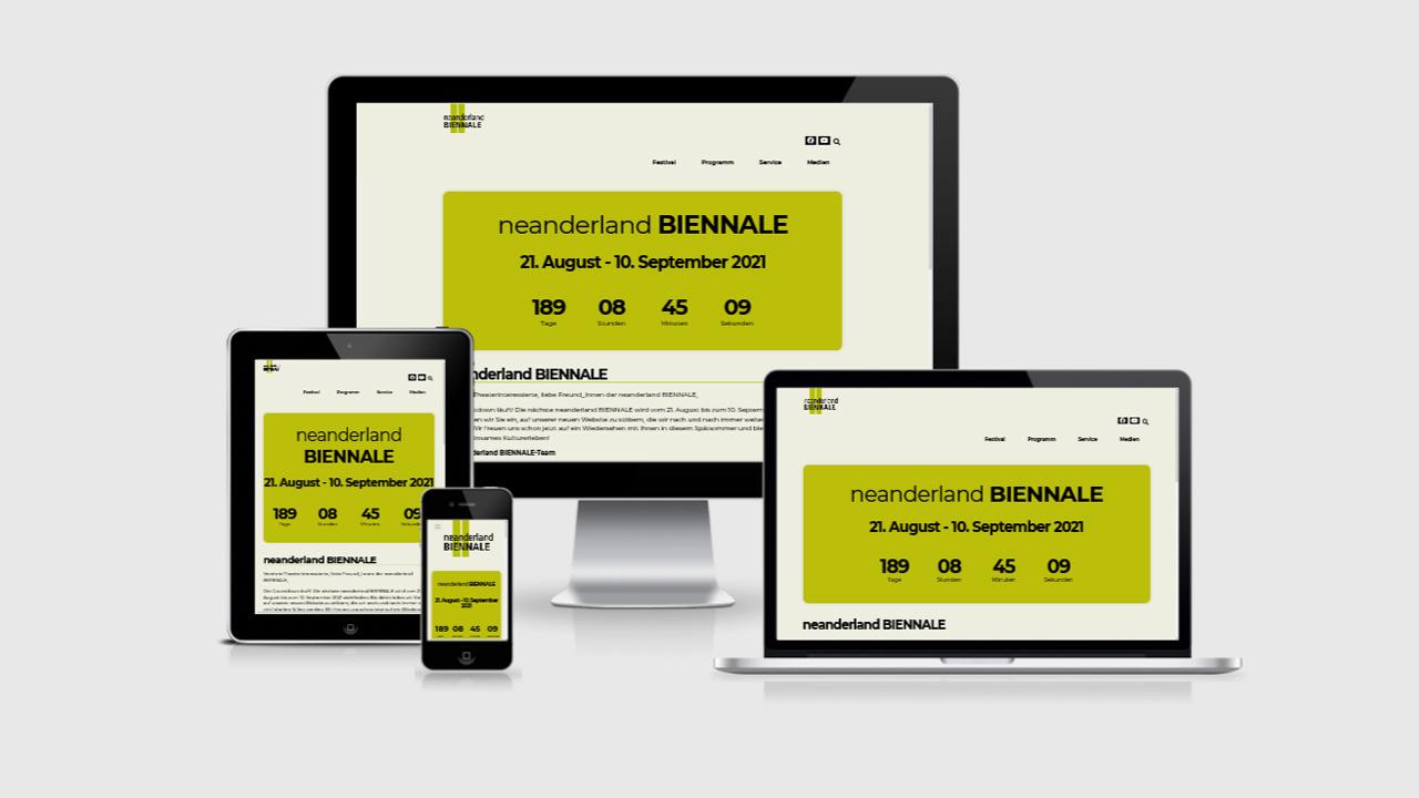 neanderland Biennale Webseite