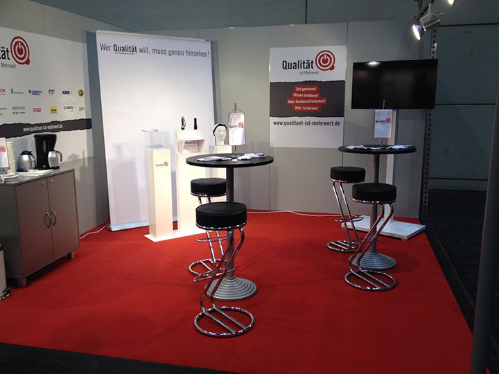 Qim-Messestand in Hannover
