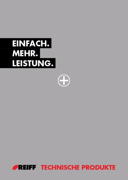 """Titelbild für die Imagebroschüre """"Das REIFF-Plus"""""""