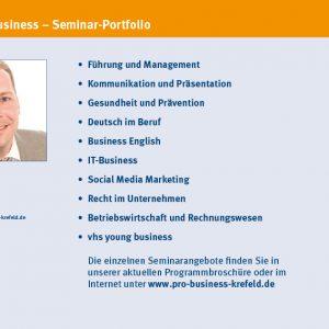 vhs pro business Seminarprogramm web seite4