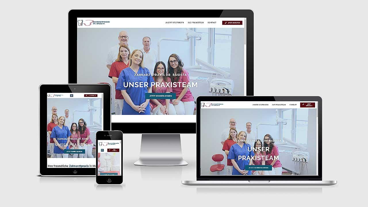 Website für Zahnarztpraxis Dr. Basista